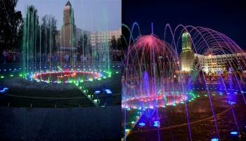 RGB полноцветная подсветка фонтана