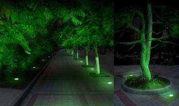 Подсветка аллеи грунтовыми антивандальными