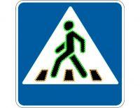 """Светодиодный дорожный знак 5.19 """"Пешеходный переход"""" анимационный цветной (арт.78)"""