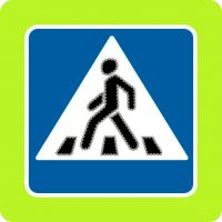 """Модификация светодиодного знака 5.19 """"Пешеходный переход"""" 900х900"""