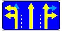 """Управляемый светодиодный дорожный знак """"Разрешенное движение по полосам"""" 5.15.1"""