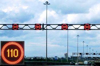 Управляемый светодиодный дорожный знак