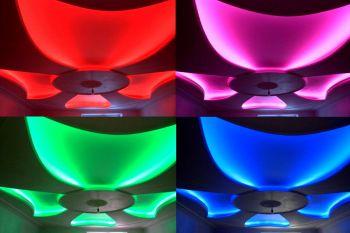 Декоративная интерьерная подсветка потолка