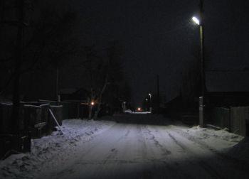 Освещение улиц поселках республики