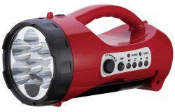 Светодиодный аккумуляторный фонарь САФ-5  лампа/плеер