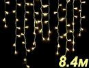 Бахрома светодиодная  LED-SKI-8.4M/0.8-220V-WW