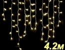 Бахрома светодиодная  LED-SKI-4.2M/0.8-220V-WW