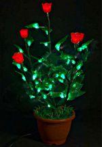 """Светодиодное дерево """"Куст красной Розы""""  LED-IMD-008"""