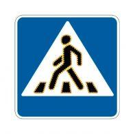 """Светодиодный дорожный знак 5.19 """"Пешеходный переход"""" мигающий"""