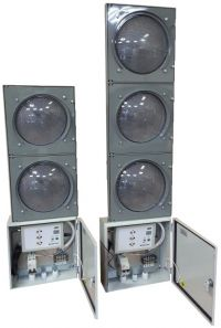 Комплект контроллеров (GPS синхронизация) для мобильных светофоров при организации реверсивного движения.