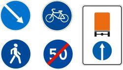 Дорожные знаки предписывающие