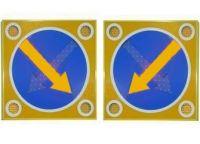 """Светодиодный знак """"Объезд препятствий-900"""" двойная стрелка"""